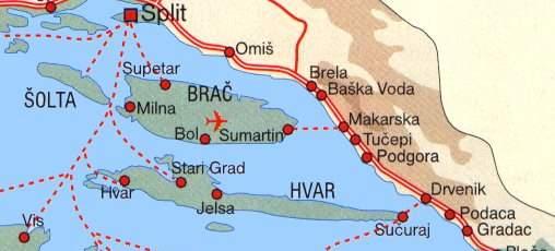 kart over makarska Position   Kika Apartmani kart over makarska